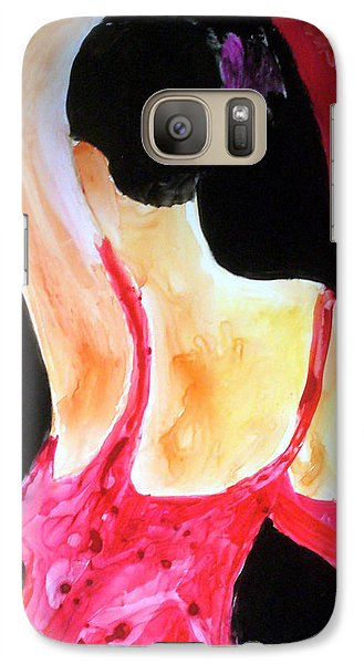 Galaxy Case featuring the painting Flamenco Evening by Keith Thue