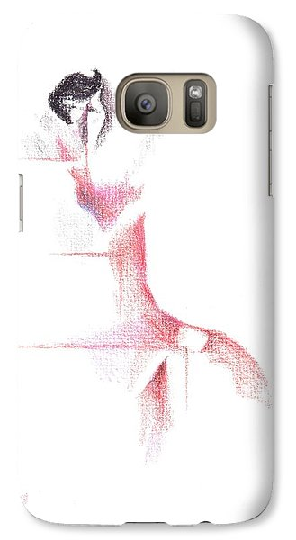 Galaxy Case featuring the painting Flamenco Geometric Cc101 by Kip DeVore