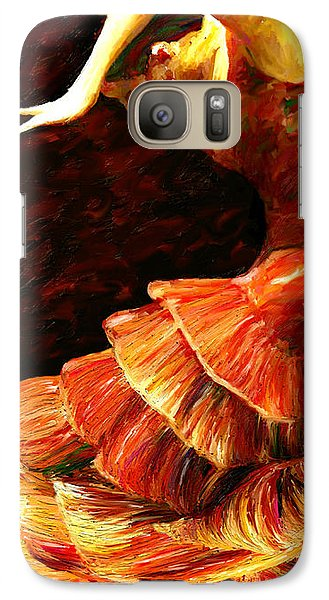 Galaxy Case featuring the painting Flamenco Poise 2 by James Shepherd