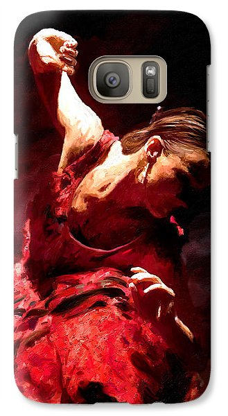 Galaxy Case featuring the painting Flamenco Poise by James Shepherd