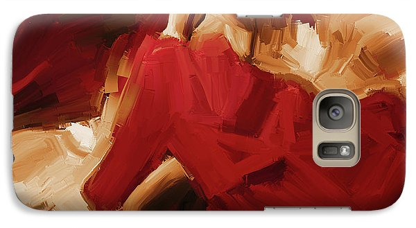 Galaxy Case featuring the painting Flamenco Spanish Dance Painting 01 by Gull G