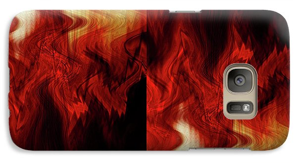 Galaxy Case featuring the digital art Flames by Cherie Duran