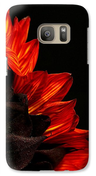 Galaxy Case featuring the photograph Flames by Judy Vincent