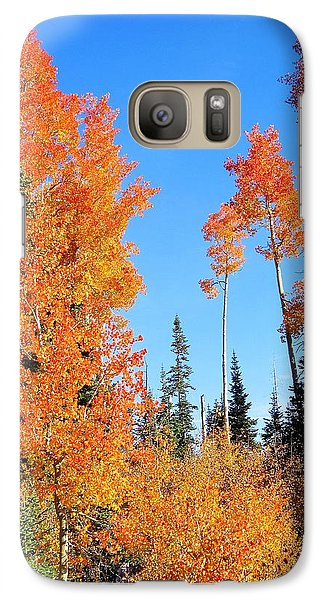 Galaxy Case featuring the photograph Flaming Autumn Trees In Dixie National Forest Utah by Deborah Moen