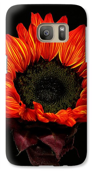 Galaxy Case featuring the photograph Flaming Flower by Judy Vincent