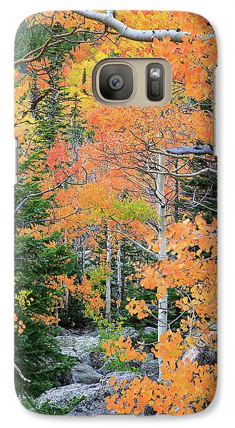 Galaxy Case featuring the photograph Flaming Forest by David Chandler