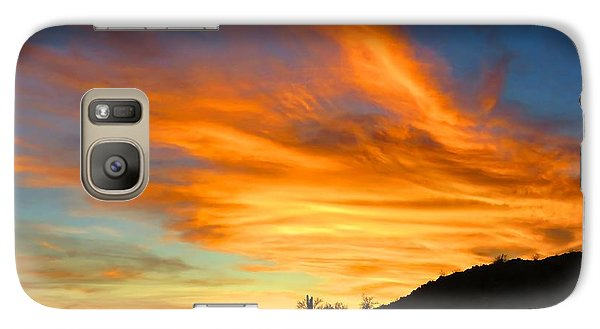 Flaming Hand Sunset Galaxy S7 Case