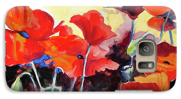 Galaxy Case featuring the painting Flaming Poppies by Kathy Braud