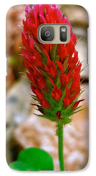 Galaxy Case featuring the photograph Flaming Red by Debra     Vatalaro