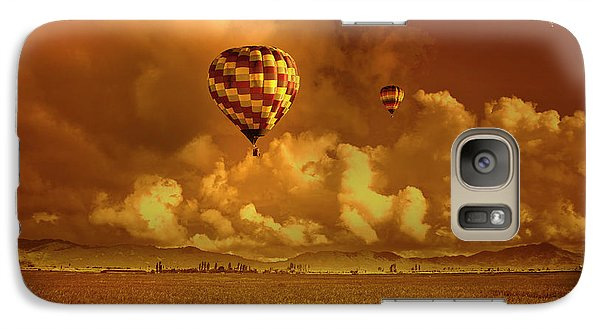 Galaxy Case featuring the photograph Flaming Sky by Charuhas Images