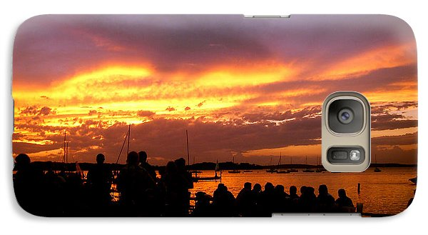 Galaxy Case featuring the photograph Flaming Sunset by Zafer Gurel