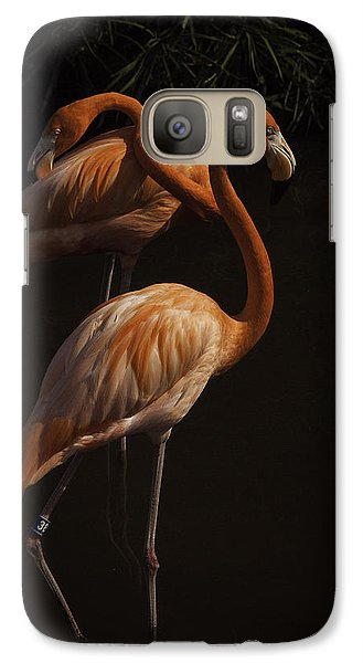 Galaxy Case featuring the photograph Flamingo Delight by Rob Wilson