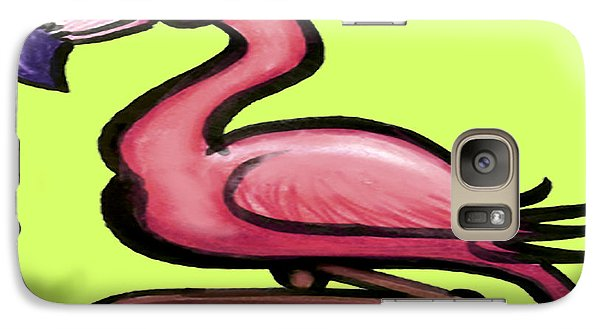 Galaxy Case featuring the painting Flamingo by Kevin Middleton