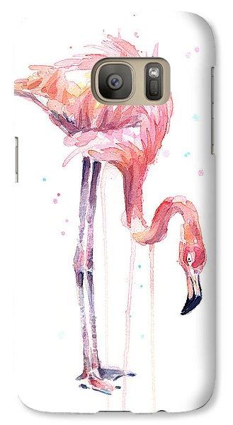 Flamingo Painting Watercolor Galaxy S7 Case
