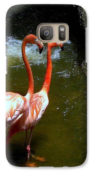 Galaxy Case featuring the photograph Flamingo Pair by Terri Mills