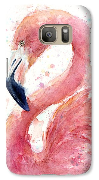 Flamingo Watercolor Painting Galaxy S7 Case