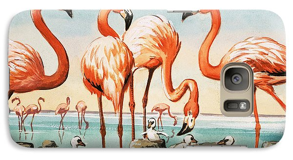 Flamingoes Galaxy Case by English School
