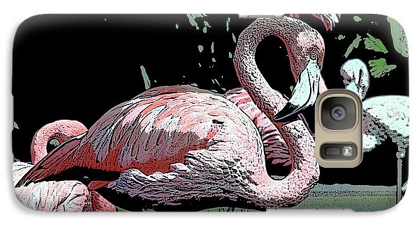 Galaxy Case featuring the photograph Flamingos I by Jim and Emily Bush