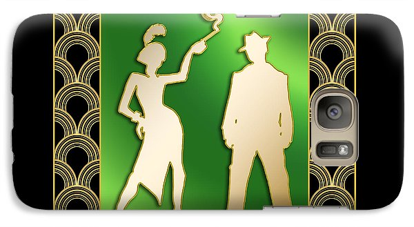 Galaxy Case featuring the digital art Flapper And The Gangster by Chuck Staley