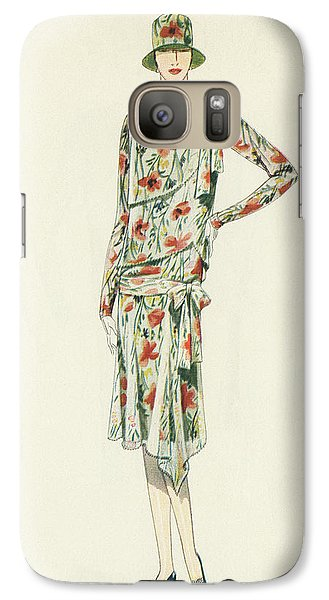 Flapper In An Afternoon Dress Galaxy Case by American School