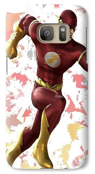 Galaxy Case featuring the mixed media Flash Splash Super Hero Series by Movie Poster Prints