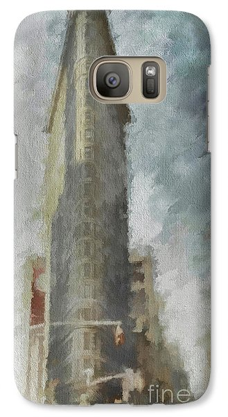 Galaxy Case featuring the digital art Flat Iron by Jim  Hatch