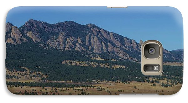 Galaxy Case featuring the photograph Flatirons Of Boulder by Christopher Kirby