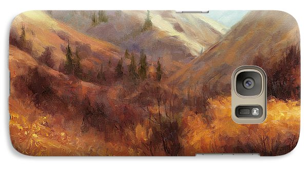 Pasture Galaxy S7 Case - Flecks Of Gold by Steve Henderson