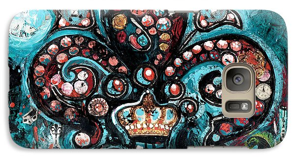 Galaxy Case featuring the painting Fleur De Lis Steampunk Style by Genevieve Esson