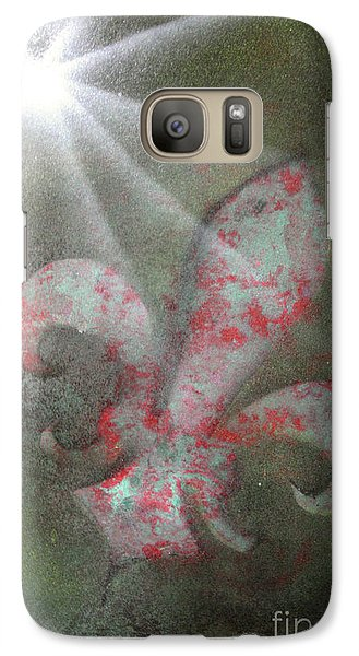 Galaxy Case featuring the painting Fleur Di Lis by Tbone Oliver