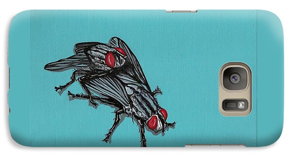 Galaxy Case featuring the painting Flies by Jude Labuszewski