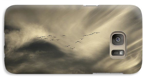 Galaxy Case featuring the photograph Flight 016 Westbound by Robert Geary