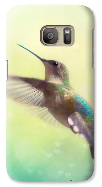 Flight Of Fancy - Square Version Galaxy S7 Case by Amy Tyler
