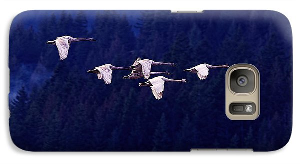 Flight Of The Swans Galaxy Case by Sharon Talson