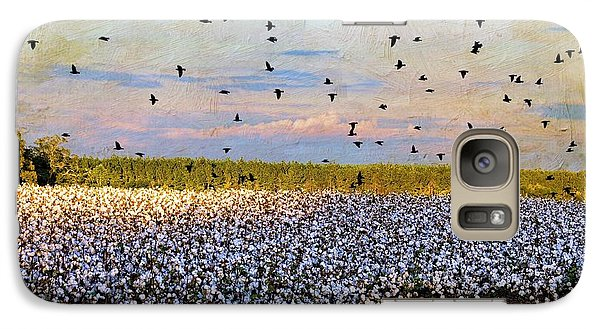 Galaxy Case featuring the photograph Flight Over The Cotton by Jan Amiss Photography