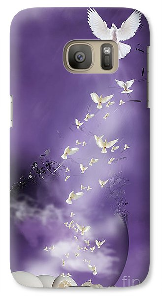 Galaxy Case featuring the mixed media Flight To Freedom by Jim  Hatch