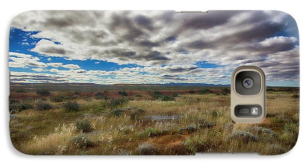 Galaxy Case featuring the photograph Flinders Ranges Fields  by Douglas Barnard