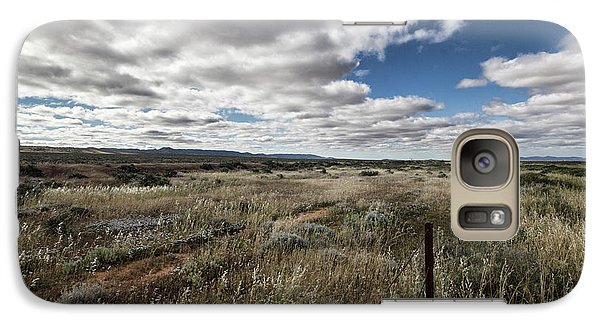 Galaxy Case featuring the photograph Flinders Ranges Fields V2 by Douglas Barnard