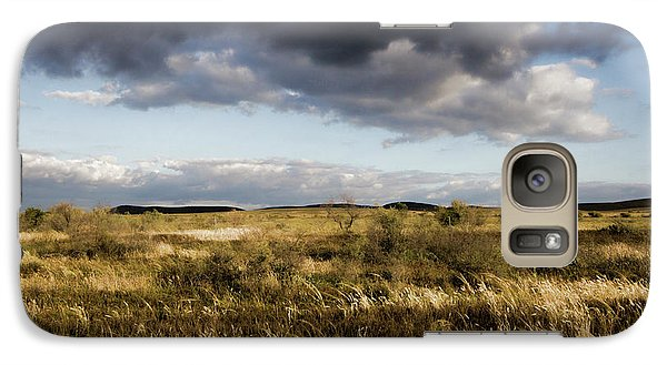 Galaxy Case featuring the photograph Flinders Ranges Fields V3 by Douglas Barnard