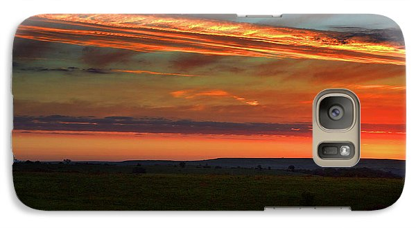 Galaxy Case featuring the photograph Flint Hills Sunrise by Thomas Bomstad