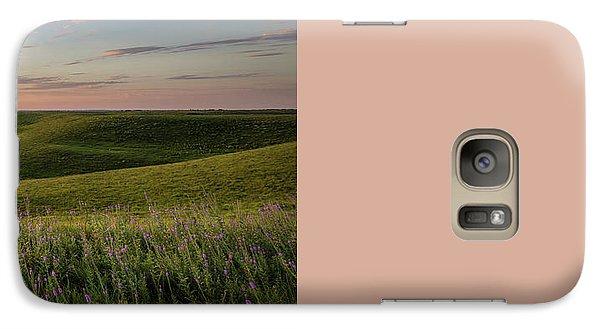 Galaxy Case featuring the photograph Flint Hills Sunset Pano by Scott Bean