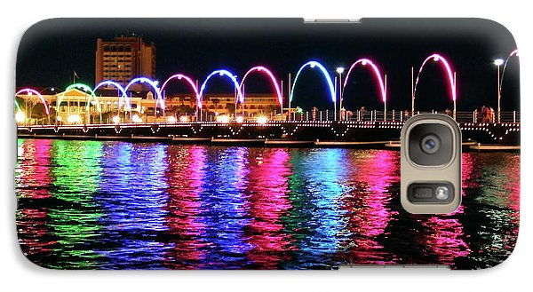 Galaxy Case featuring the photograph Floating Bridge, Willemstad, Curacao by Kurt Van Wagner