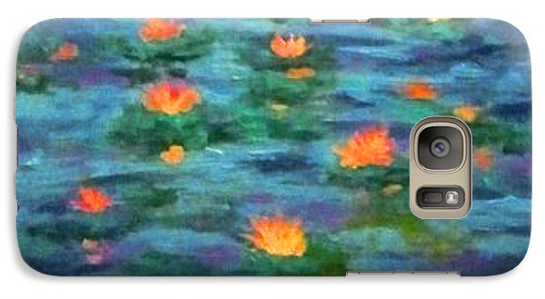 Galaxy Case featuring the painting Floating Gems by Holly Martinson