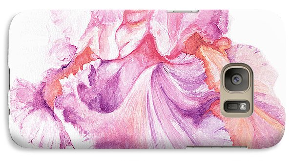 Galaxy Case featuring the painting Floating Iris 1 by Rachel Lowry