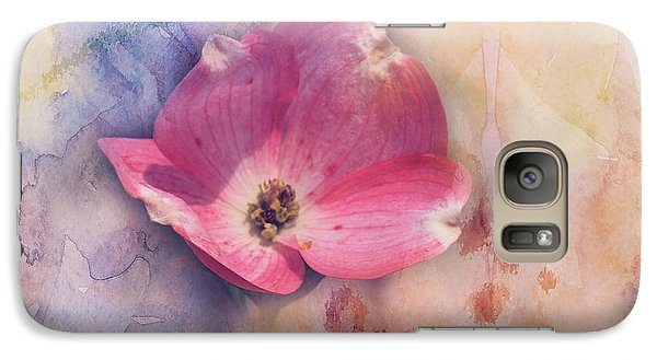 Galaxy Case featuring the photograph Floating Pink Bloom by Toni Hopper