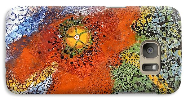 Galaxy Case featuring the ceramic art Floating Poppy by Kathleen Pio