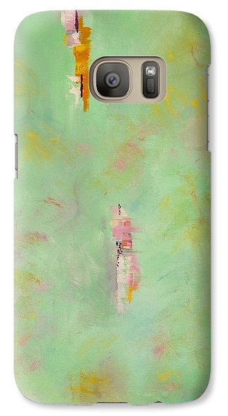 Galaxy Case featuring the painting Floating by Suzzanna Frank