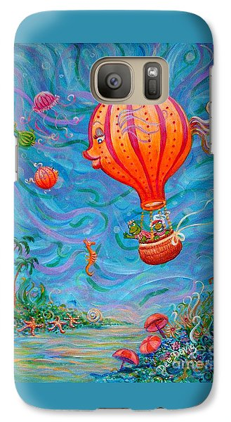 Galaxy Case featuring the painting Floating Under The Sea by Dee Davis