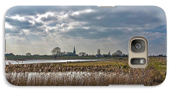 Galaxy Case featuring the photograph Floodplains Near Culemborg by Frans Blok