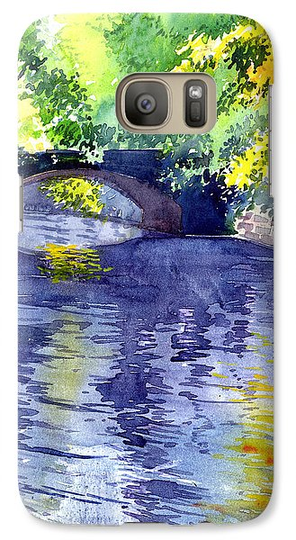 Galaxy Case featuring the painting Floods by Anil Nene